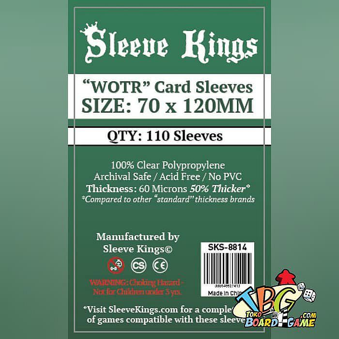 Sleeve Kings WOTR-Tarot Card Sleeves (70x120mm) - 110 Pack, 60 Microns