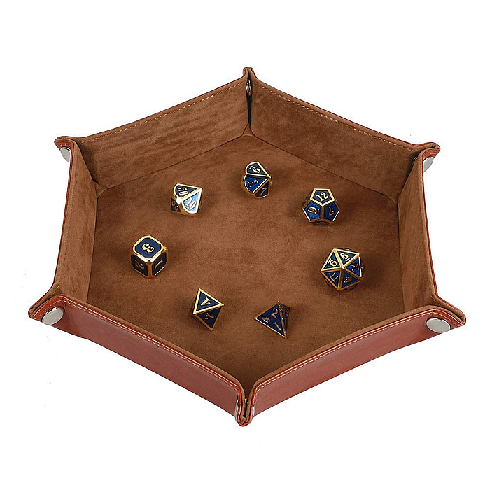 Dice Tray Metal Dice Rolling Tray Holder Storage Box for RPG DND Table
