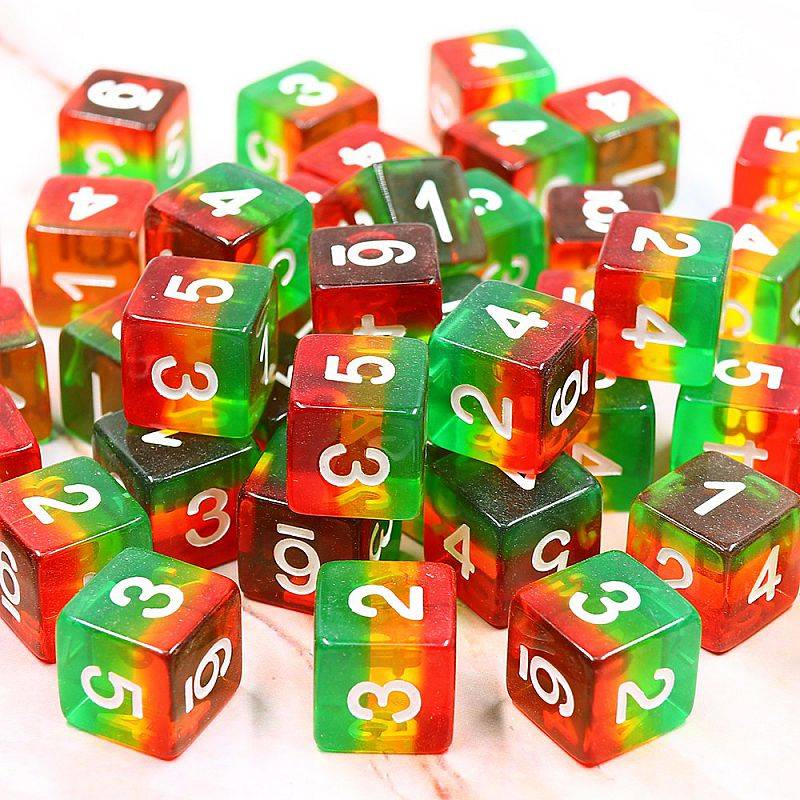Bright Forest D6 High Quality Dice - DND - Dungeons & Dragons - 16mm