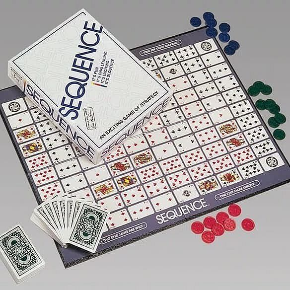 Sequence ( Original ) Board Game + Card Protector Bundle