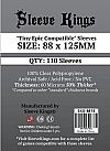 "Sleeve Kings ""Tiny Epic Compatible"" Card Sleeves (88x125mm) - 110 Pack"